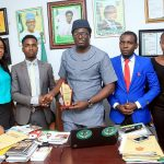 COPEEL HONOURS Amb. Jonathan  Daniel with *OUTSTANDING LEADERSHIP AWARD